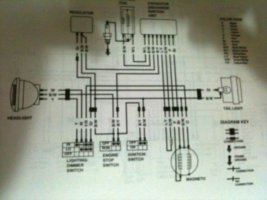 suzuki 250 atv wiring old 250 wire diagram? - suzuki atv forum | quad | pinterest suzuki 110cc atv wiring diagram