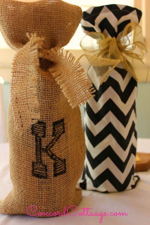 how to make pottery barn inspired wine bags inspiredby, crafts, You can make it in minutes too