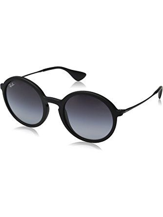 8a6a3ec620c Ray-Ban INJECTED MAN SUNGLASS - BLACK RUBBER Frame LIGHT GREY GRADIENT DARK  GREY Lenses 50mm Non-Polarized ❤ Ray-Ban Sunglasses
