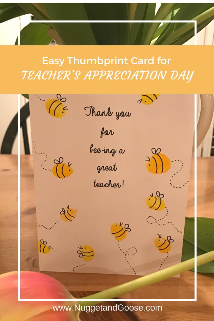 2 Easy Cards For Teacher Appreciation Day Nugget Goose Teacher Thank You Cards Teacher Appreciation Cards Teacher Cards