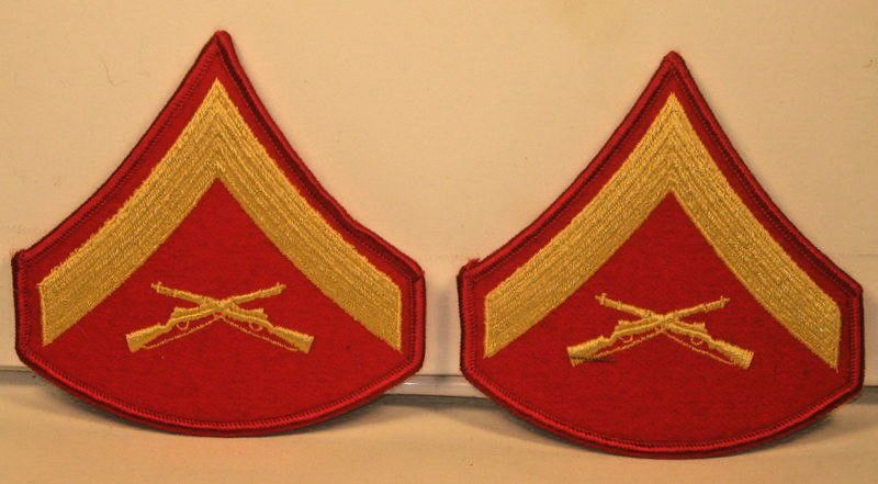 USMC Marine Corps Male Sergeant Major of the Marine Corps Stripes Pair Blues