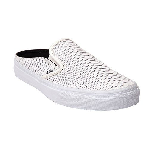 5d640bcc7a Vans Women Classic Slip-On Mule - Embossed Leather (white   true white)