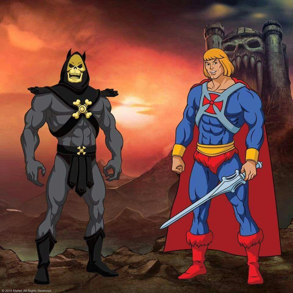 Skeletor as Batman vs He-Man as Superman | He-Man and The ...