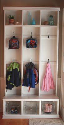 diy custom built in need front door hallway all 5 kids. Black Bedroom Furniture Sets. Home Design Ideas