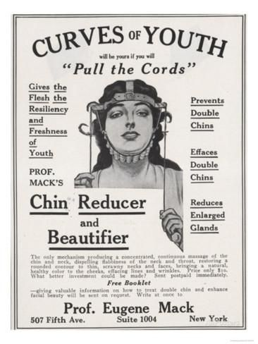 'Curves of Youth, Humour Inventions Chin Reducer