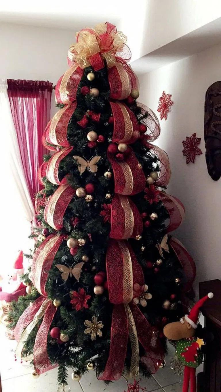 25 Buffalo Check Christmas Tree con cinta 22 - Show my page