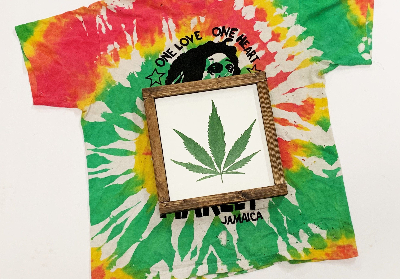 Pot Leaf Sign Shelf Sign 420 Sign Stoner Gifts Smoke