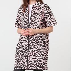Photo of Lazy Oaf Leopard Shirt Dress Pink Lazy Oaf