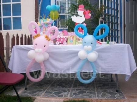 Decoracion con globos para baby shower ni o buscar con - Adornos baby shower nino ...