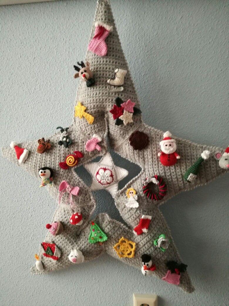 Kerstster   Weihnachtskränze   Pinterest   Weihnachten häkeln ...