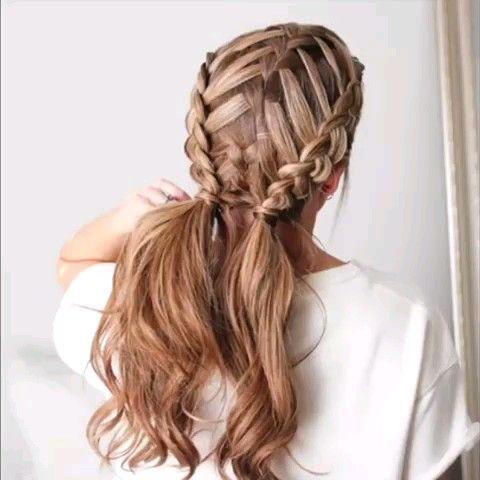 Cute Braid Video Tutorial Braid Cute Tutorial Video Peinados Con Trenzas Peinados Poco Cabello Peinados Con Trenzas Faciles