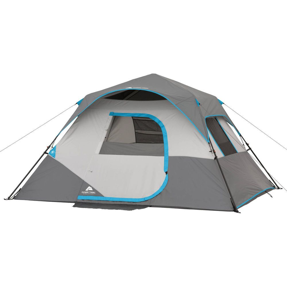 Instant Cabin Tent 6-Person Poles Pre Attached Roomy Style Large Windows #TentsHome  sc 1 st  Pinterest & Instant Cabin Tent 6-Person Poles Pre Attached Roomy Style Large ...