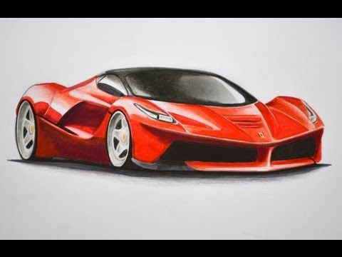Are You Interested In Learning How To Draw You Can Learn At Your Own Pace When You Have Moments To Spare Thanks To Awes Car Drawings Cool Car Drawings Ferrari