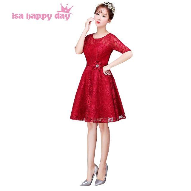 2017 robes de soiree cheap burgundy deep red women sleeved prom ...