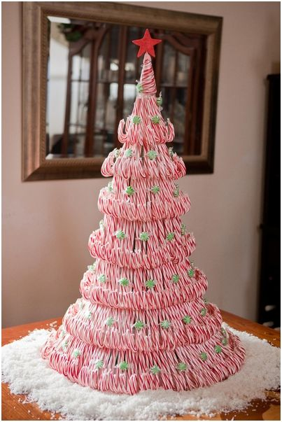 Top 10 tasty diy decorations with real candy canes diy tutorial how to make cute candy cane christmas tree step by step diy tutorial instructions how solutioingenieria Image collections