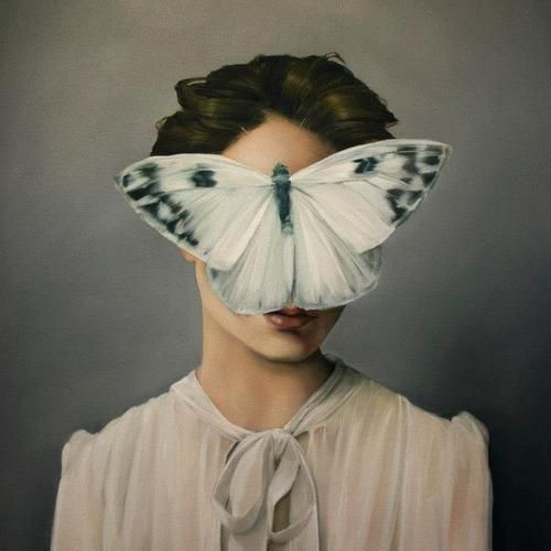 Amy Judd. Paintings Of Decorated Women Seemingly In The Middle...