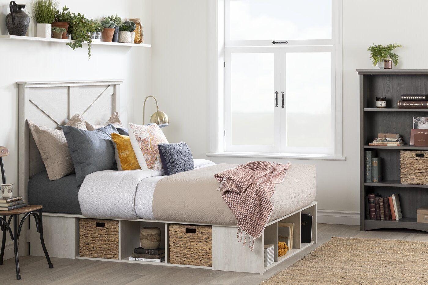 South Shore Avilla Storage Platform Bed Reviews Wayfair Furniture Storage Bed Home South shore bedroom furniture