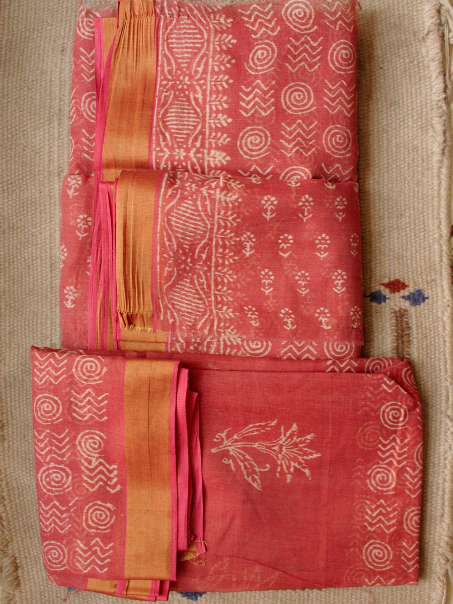 9b5001350a Brown, hand- block printed cotton chanderi salwar-suit set online.  #blockprint #chanderisuit