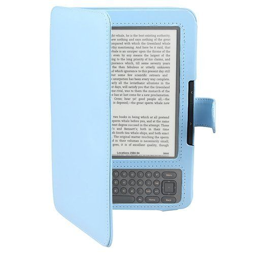 Eforcity Leather Case Compatible With Amazon Kindle 3 Light Blue By Eforcity 5 51 Compatible With Amazon Kindle 3 Electronics Leather Case Ebook Reader