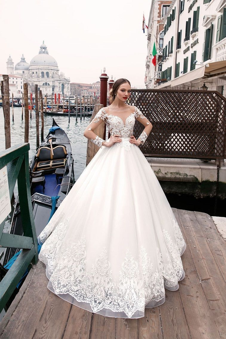 Long sleeve ball gown wedding dresses  Anna Sposa Wedding Dresses u Venice Bridal Collection  Gown