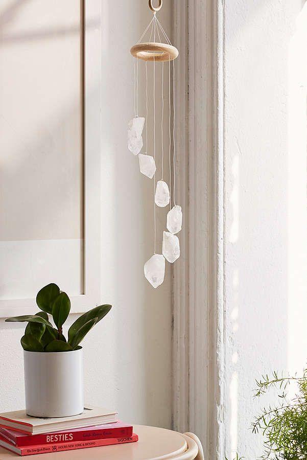 White Quartz Crystal Mobile - decoracion zen
