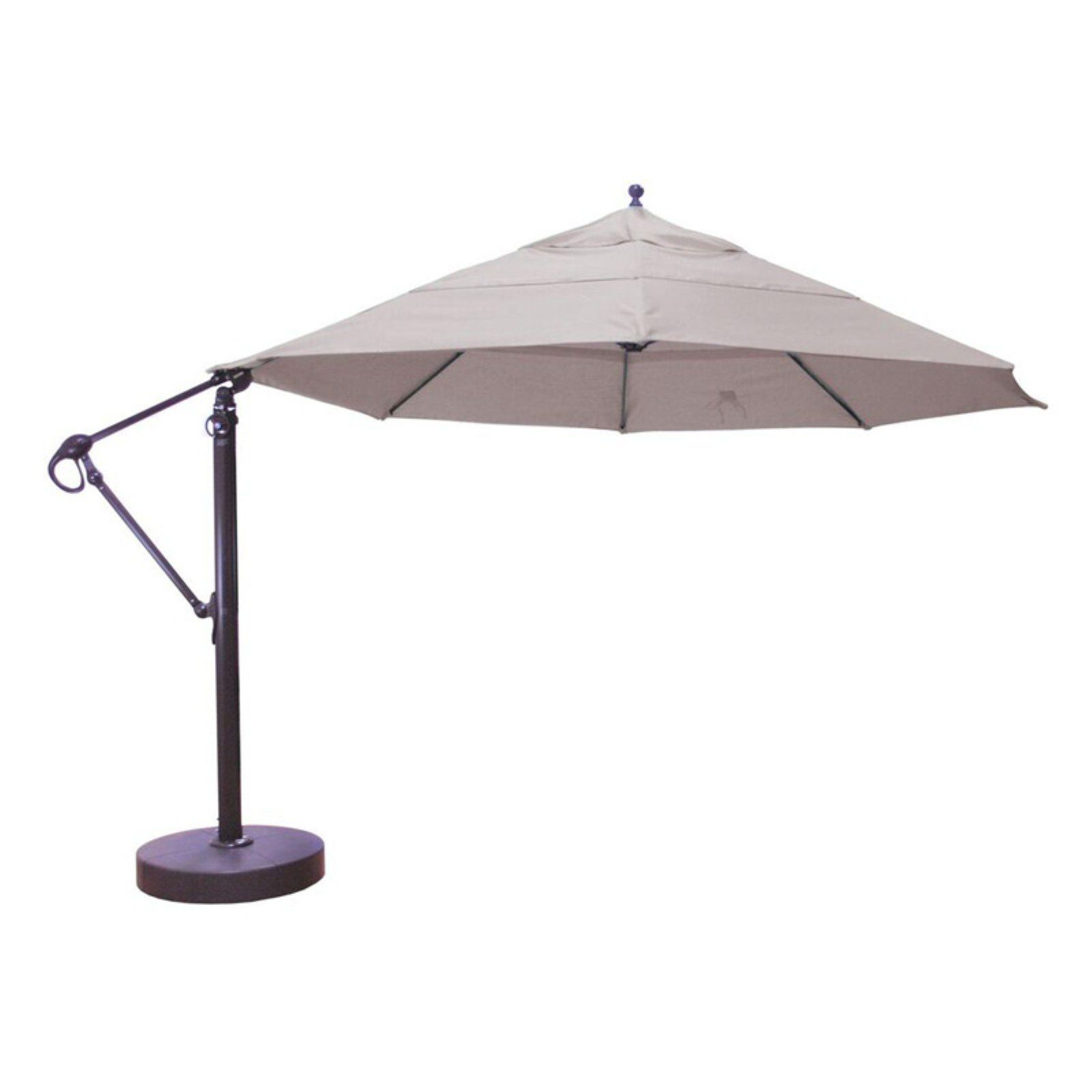 a6eed1727cef Galtech 13 ft. Aluminum Cantilever Patio Umbrella with Easy Lift and Tilt  Sunbrella Stone Linen
