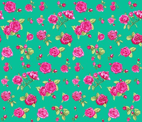 Colorful Fabrics Digitally Printed By Spoonflower Roses Emerald Ramadan Crafts Diy Prints Fabric