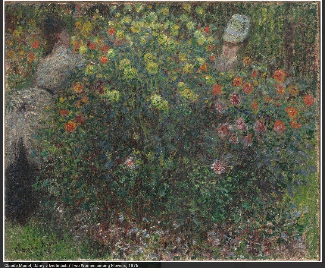 Due donne tra i fiori. 1875. Narodni Galerie Praga