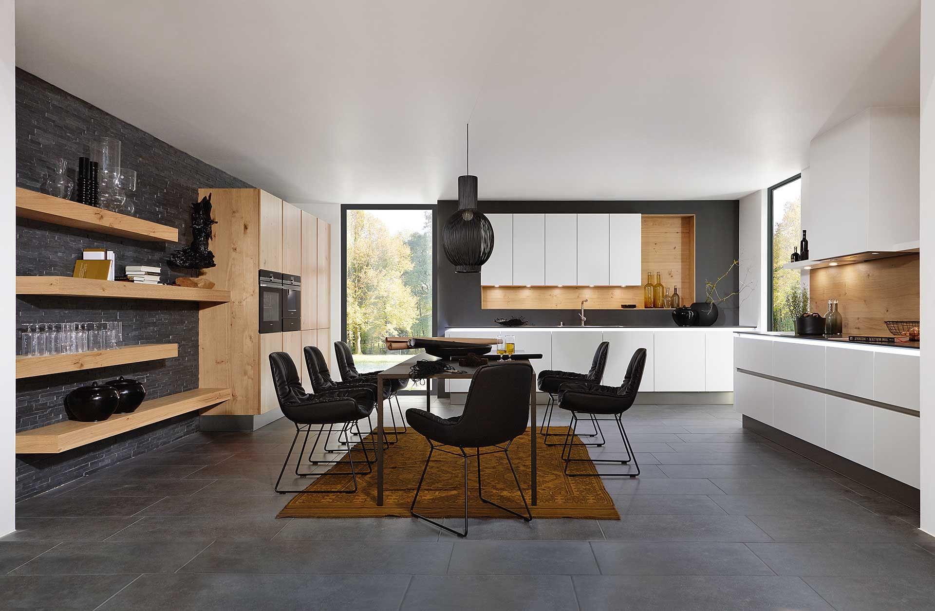 Moderne keuken met lichte houtkleur. Deze moderne keuken straalt door het  gebruik van het lichte h… | Moderne keukens, Hedendaagse keuken ontwerp,  Keukens