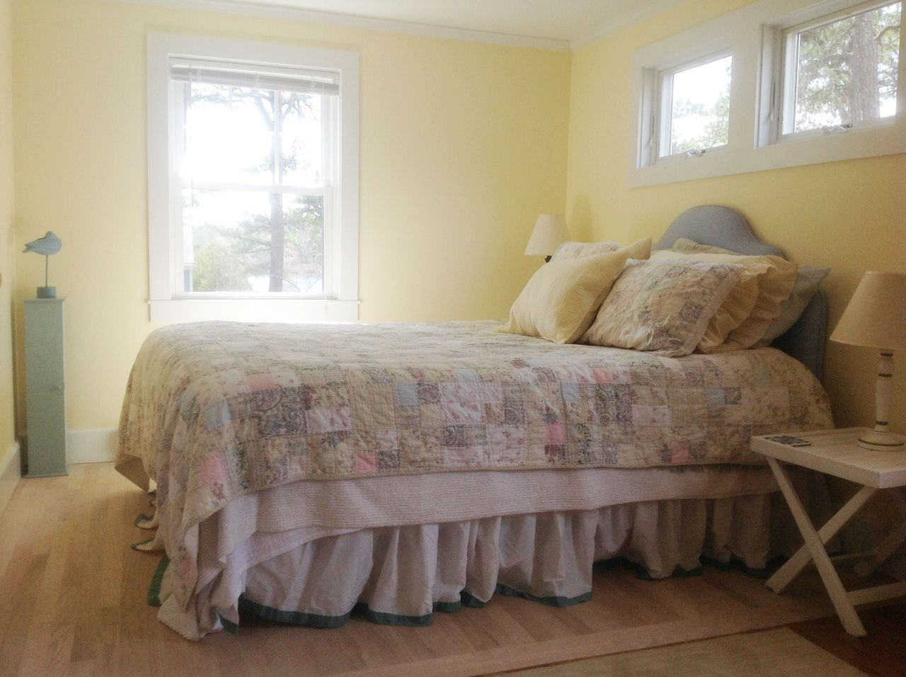 Waterview bedroom at Summer Pines Cottage Cottage living