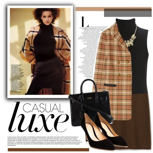 Casually Fall by sweet-jolly-ranchers on Polyvore featuring polyvore fashion style Elizabeth and James Tory Burch Theory Gianvito Rossi Yves Saint Laurent Fall autumn fallinspired