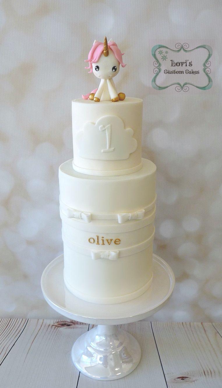 Baby Unicorn Cake 1st Birthday