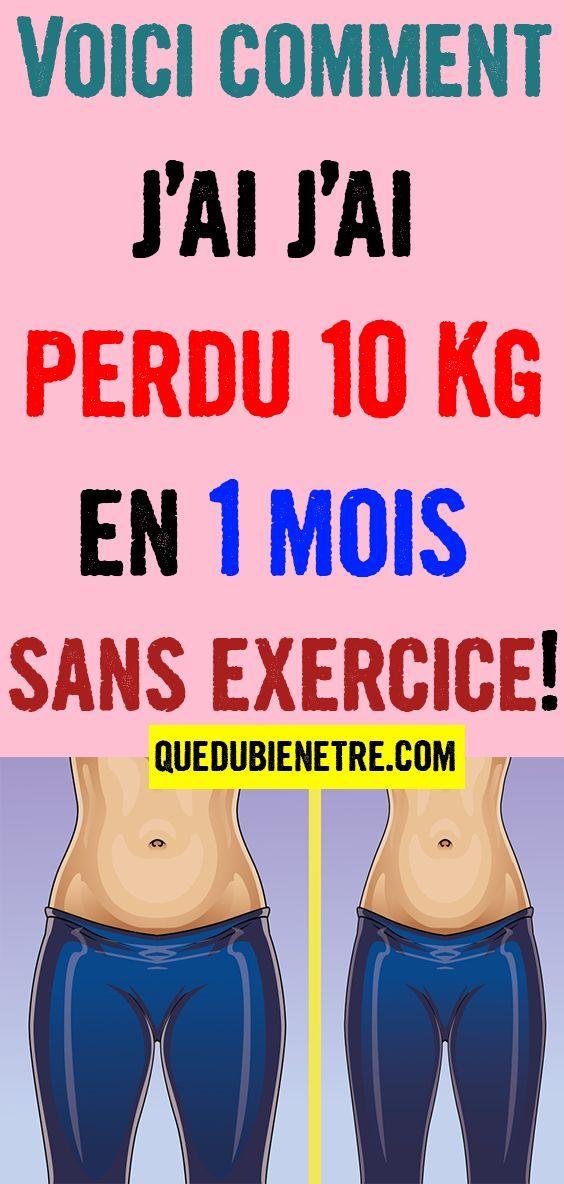 comment perdre 10 kg 1 mois