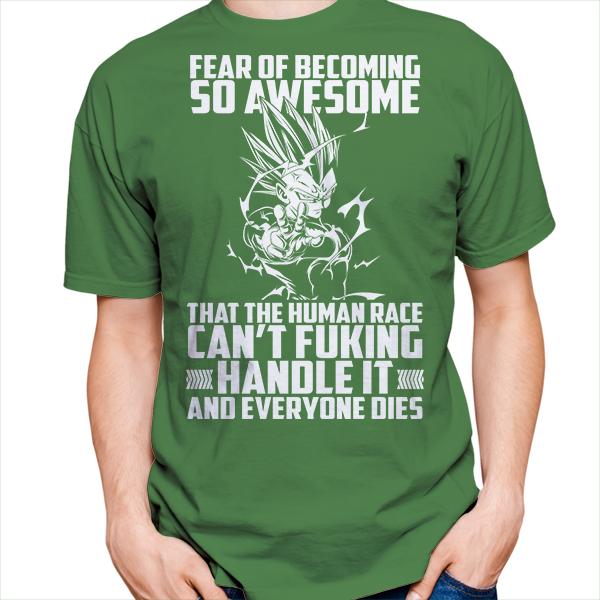 Super Saiyan Majin Vegeta Fear of Becoming so Awsome Short Sleeve Shirt - PF00451SS