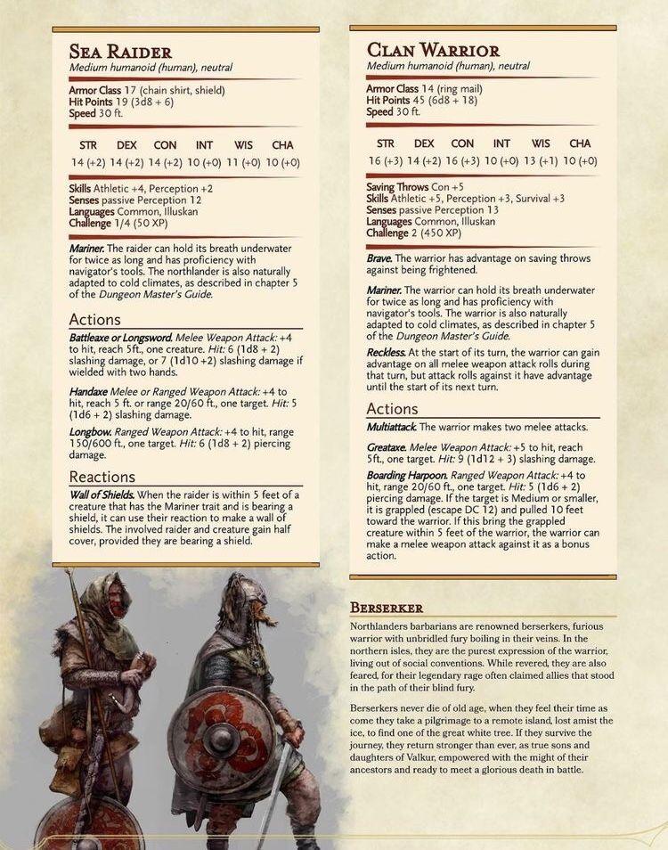 Viking NPCs | RPGs in 2019 | Dnd monsters, Dungeons, dragons