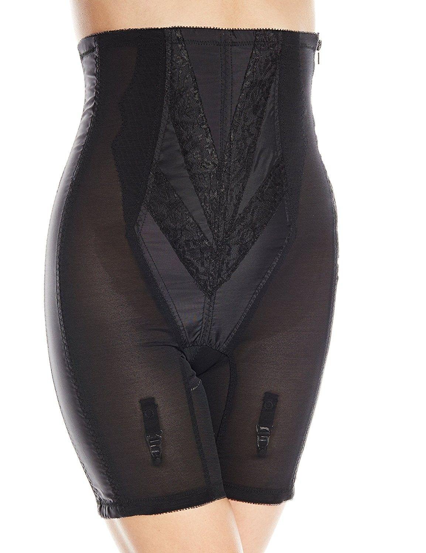 1352bd06d4e Women s Extra Firm Zippered High Waist Long Leg Shaper - Black ...