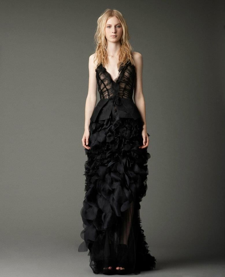 vera wang black bridesmaid dresses - 60