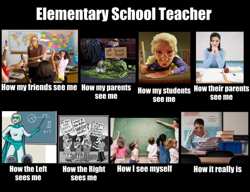 How The World Sees Me And What I Do Meme For An Elementary School Teacher Teacher Humor Teacher Memes Elementary Schools