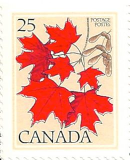 Canada Stamp 1977 Red Leaves Sugar Maple 25 International