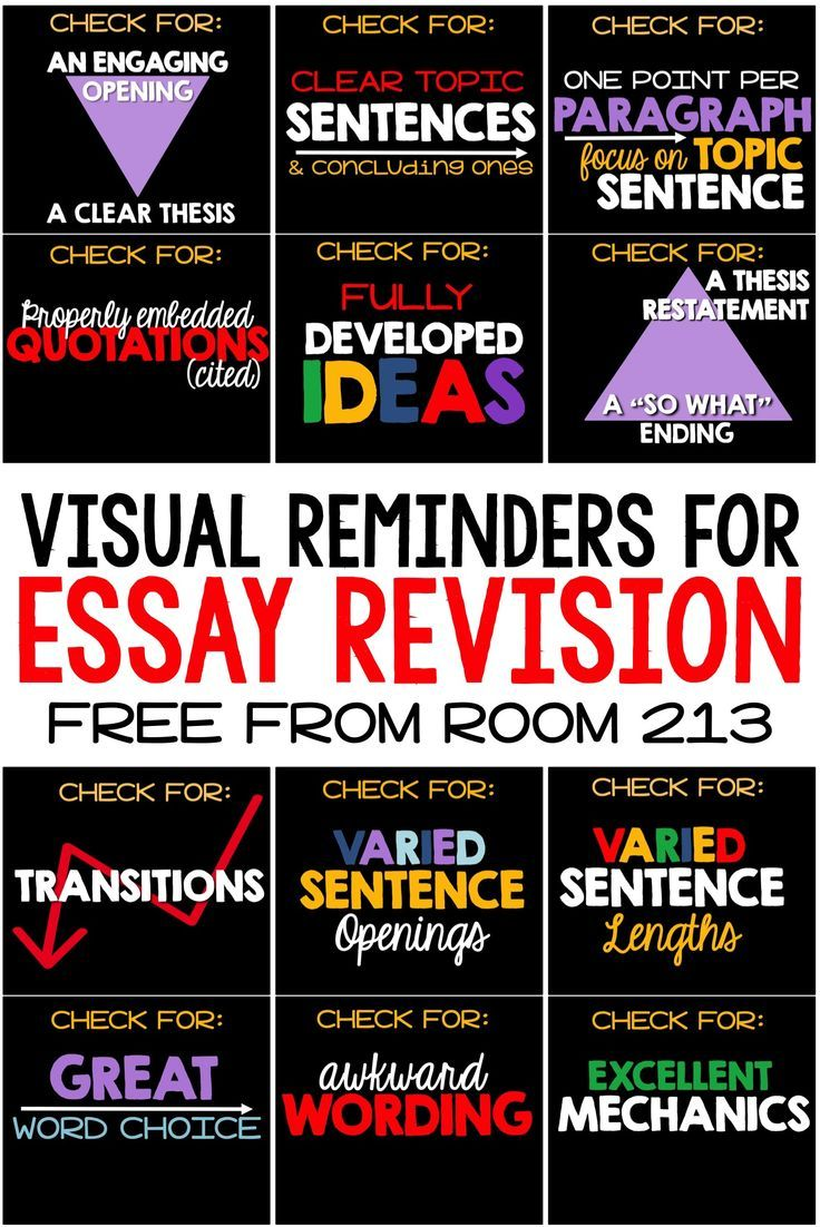 Essay Revision Reminders  Preparing For Ell  Teaching Writing  Free Powerpoint Or Posters To Help English Students Revise Their Essays
