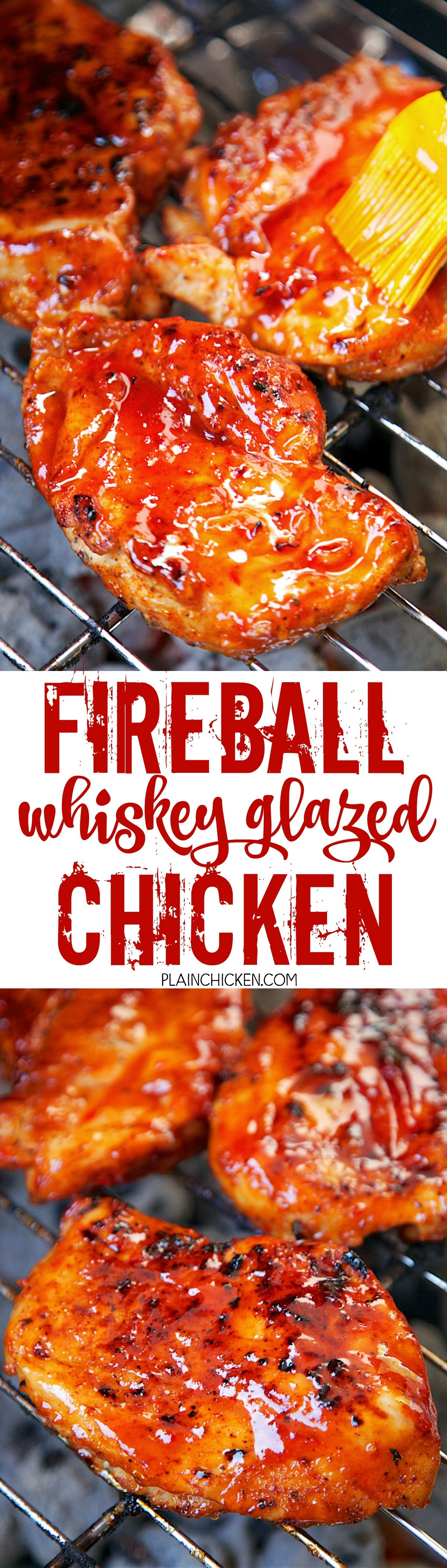 Fireball whiskey glazed chicken chicken basted with an amazing fireball whiskey glazed chicken chicken basted with an amazing homemade fireball bbq sauce ketchup forumfinder Image collections