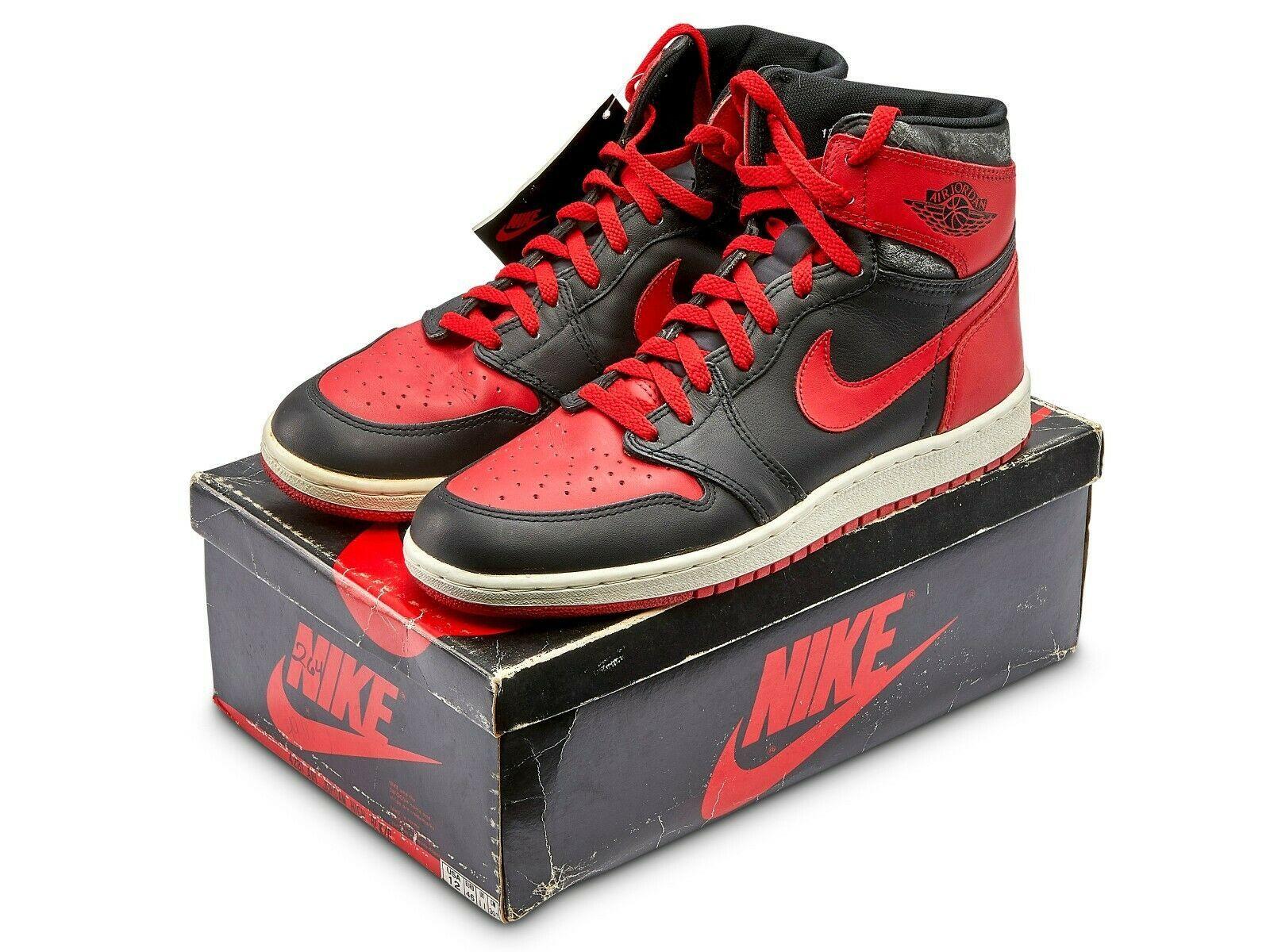 hot sale online eddec be088 Details about NIKE AIR JORDAN HI I 1 WHITE RED BLACK ...