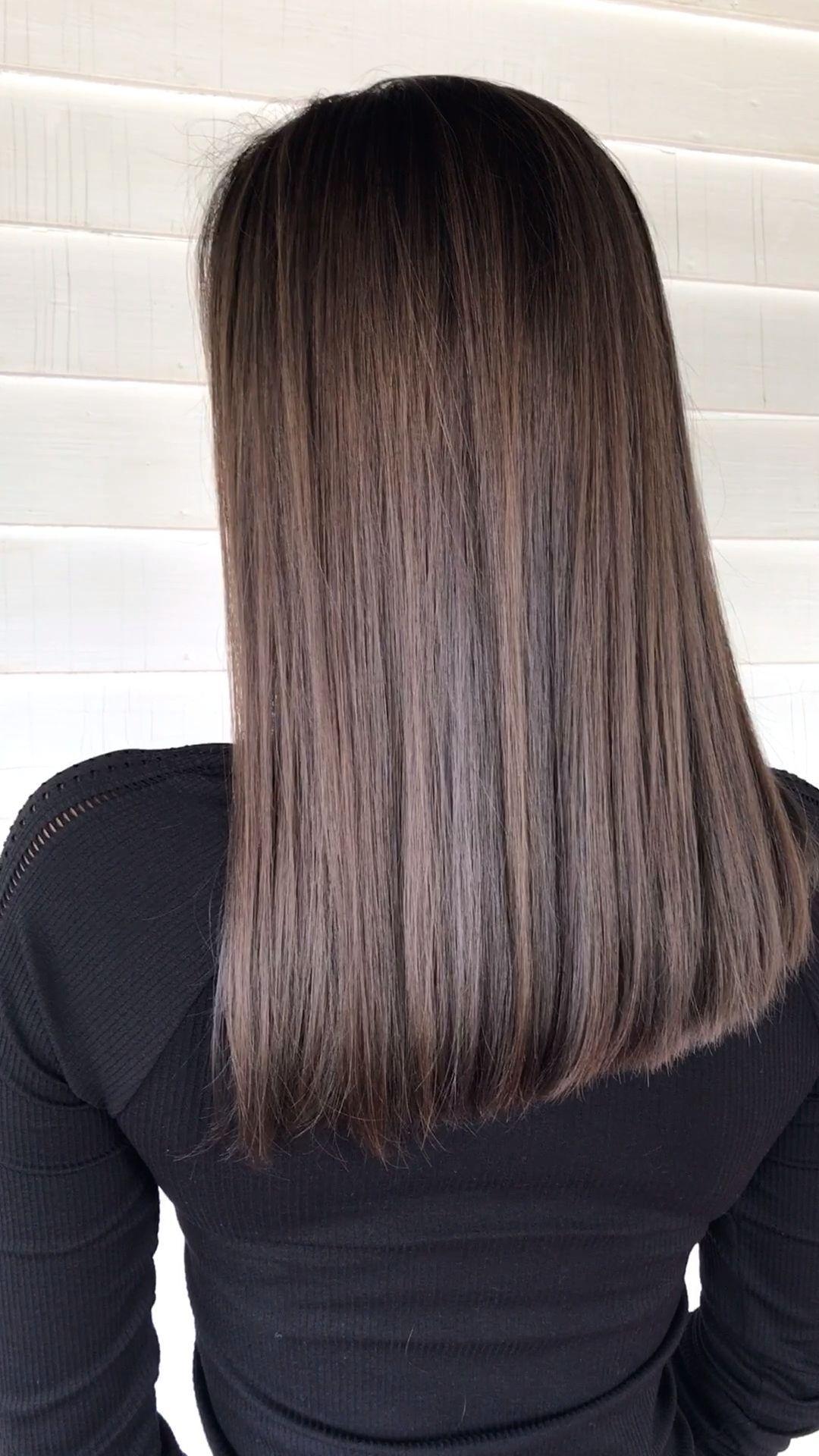 Mushroom Brown On Dark Asian Hair In 2020 Asian Hair Long Hair