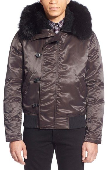 THEORY 'Leonaard Sf' Toggle Jacket With Genuine Coyote Fur Trim. #theory #cloth #