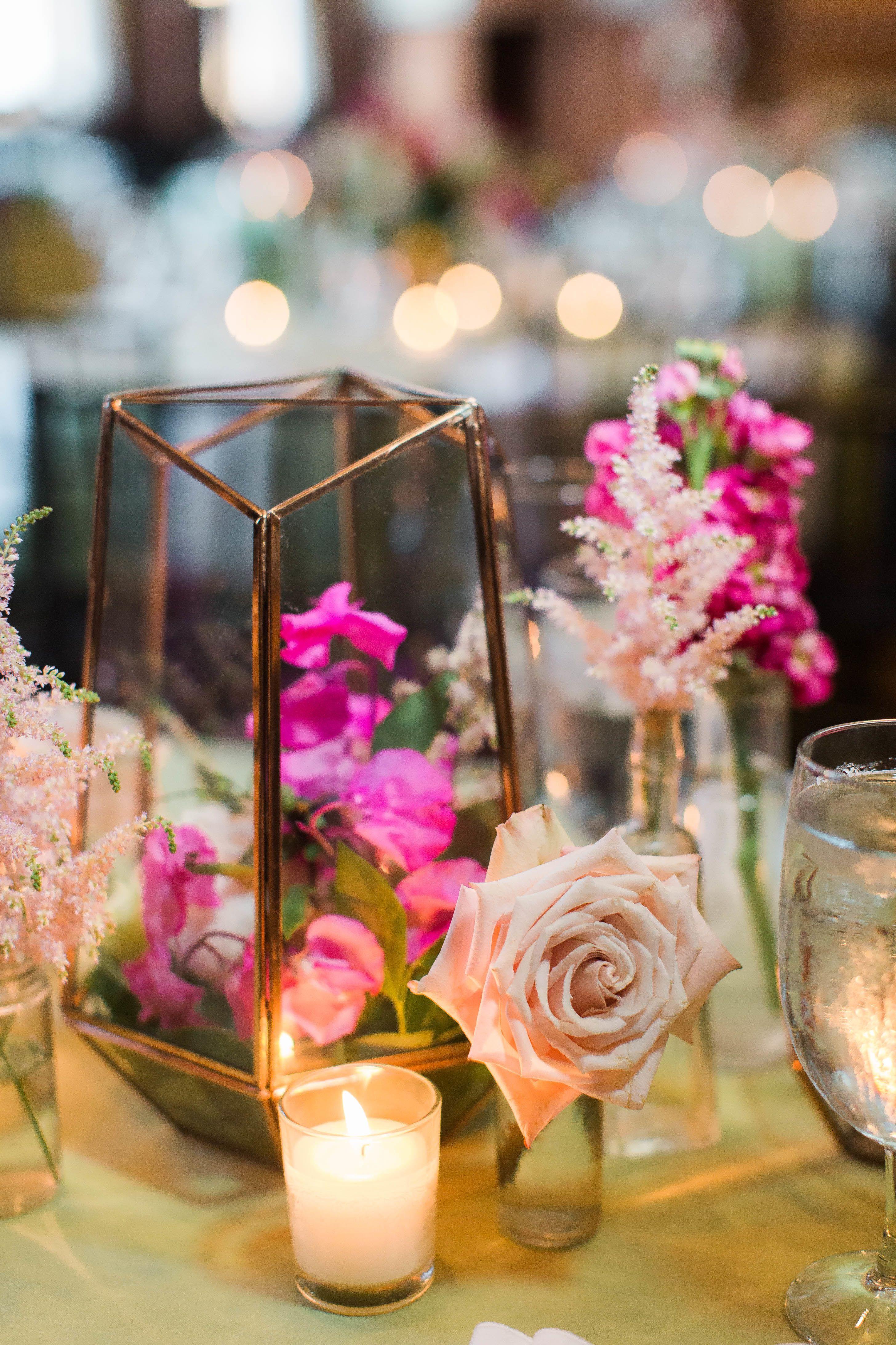 Sweet Pea And Rose Terrarium