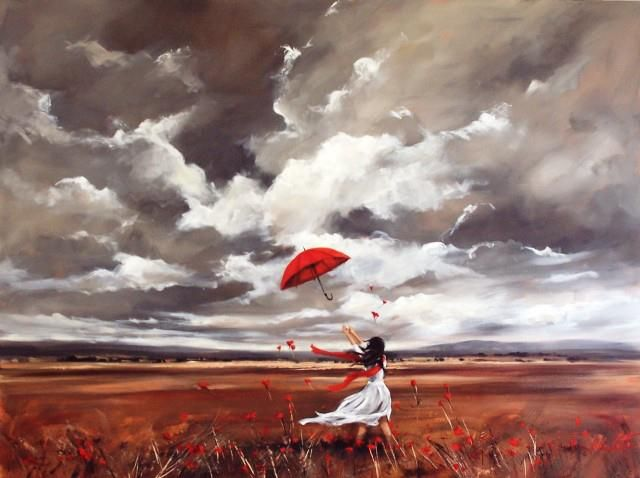 ... by Helen Cottle - Umbrella Gets Away