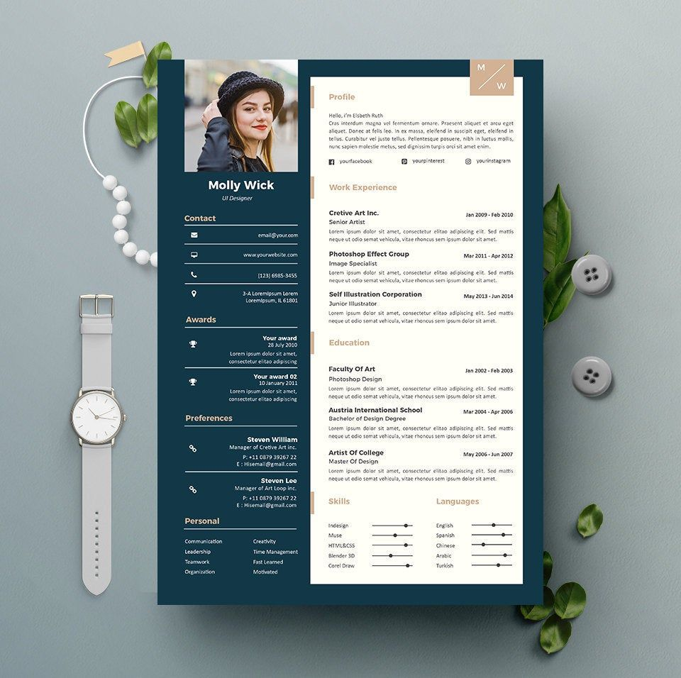 Professional Resume Template Instant Download 2 Pages Cv Template Cover Letter Diy Print Resume Design Creative Resume Template Professional Resume Design