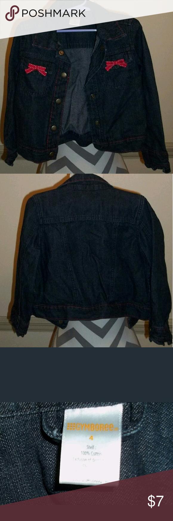 Girls Sz 4 Gymboree Denim Look Jacket Girls sz 4 Gymboree denim look jacket excellent used condition Gymboree Jackets & Coats Jean Jackets