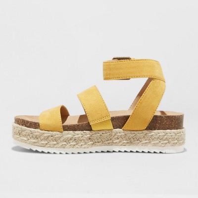 8a7aa0c41 Women s Agnes Wide Width Espadrille Sandals - Universal Thread Yellow 7W