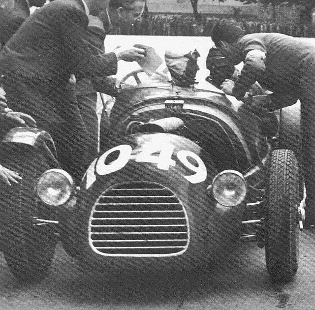 1948 Mille Miglia - Ferrari 166 SC driver Tazio Nuvolari-Andrea Scapinelli
